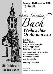 J.S. Bach, Weihnachtsoratorium @ Stiftskirche Baden-Baden